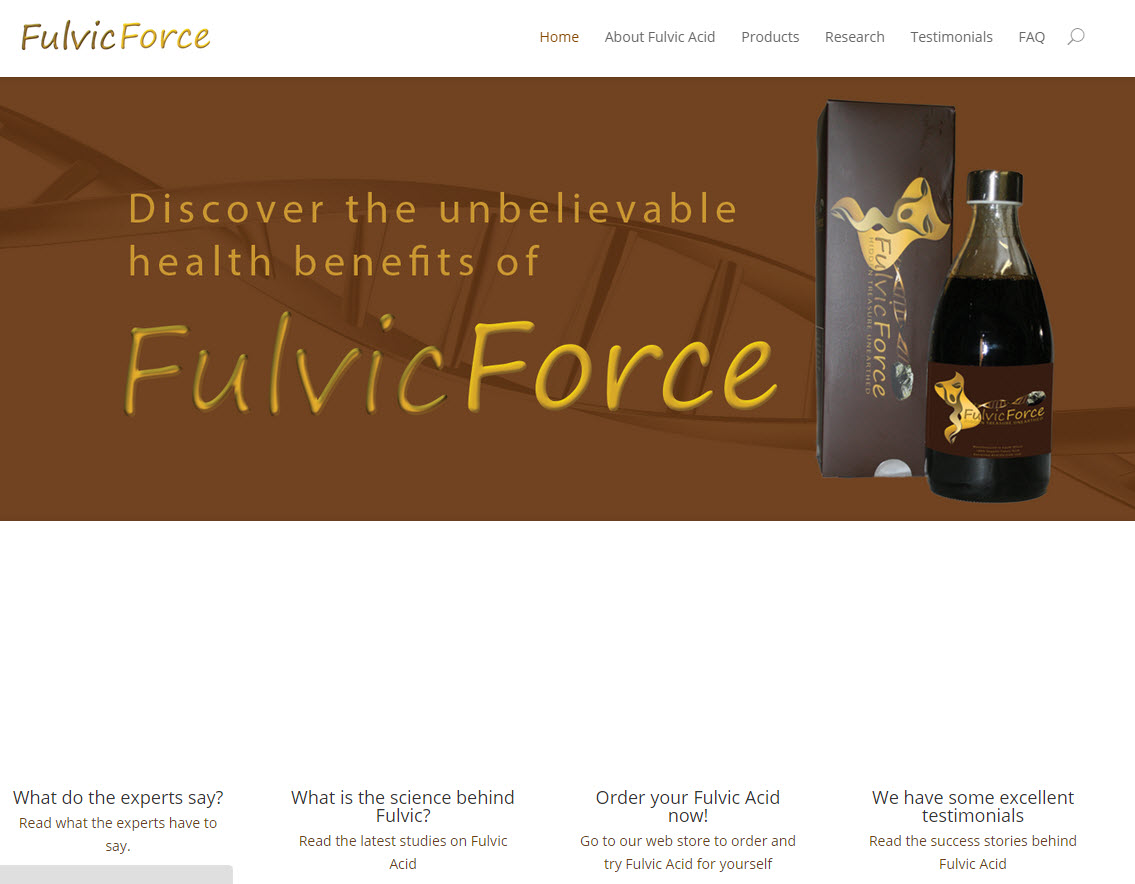 Fulvic Force Website